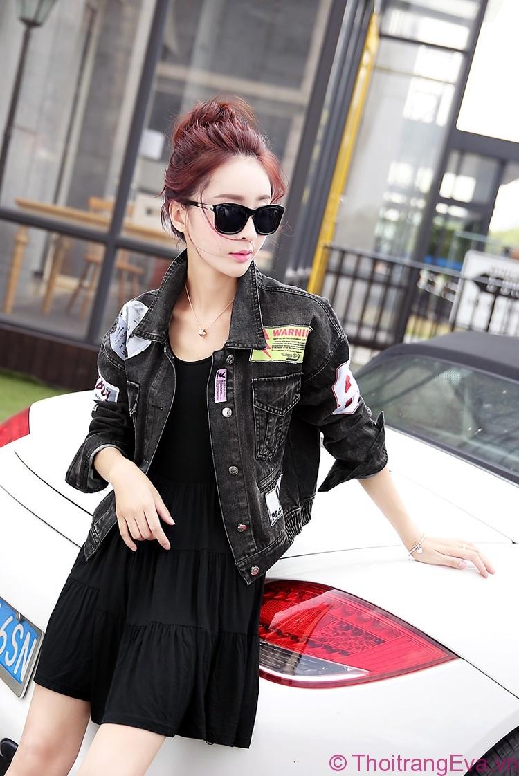 Áo khoác jean thời trang cho cô nàng cá tính - Hình 1