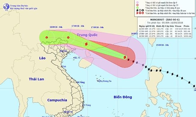 Siêu bão Mangkhut gây mưa to nhiều nơi - Hình 1