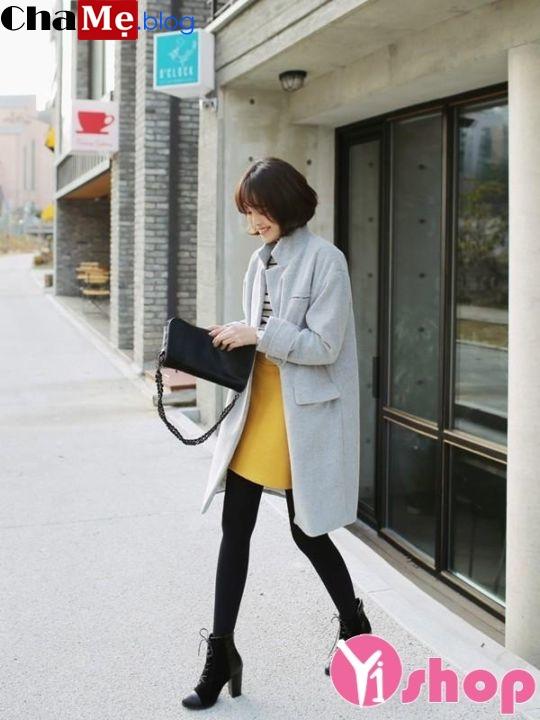 Áo khoác dạ nữ dáng dài đẹp đông 2018 - 2019 kiểu Hàn Quốc không lạnh - Hình 9