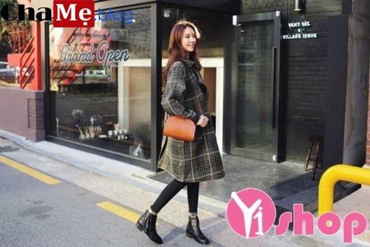 Áo khoác dạ nữ dáng dài đẹp đông 2018 - 2019 kiểu Hàn Quốc không lạnh - Hình 4