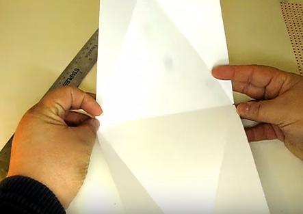 cách làm hộp quà giấy hình tam giác - Hình 6