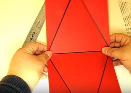 cách làm hộp quà giấy hình tam giác - Hình 5