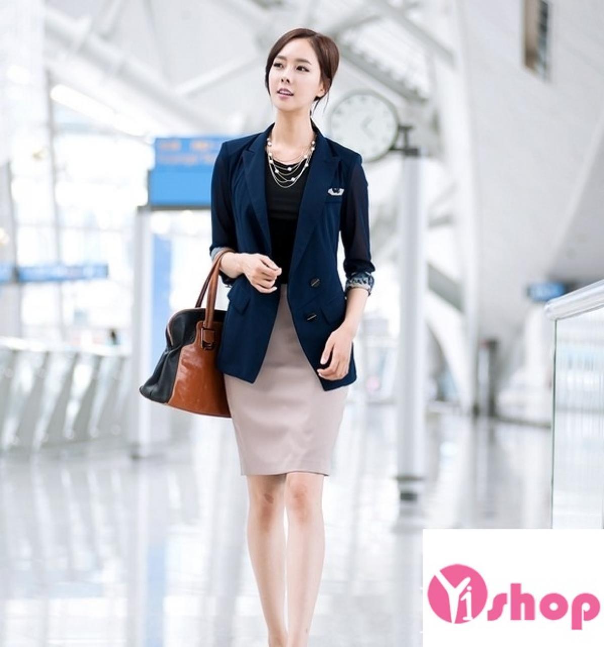 Áo khoác blazer nữ màu sắc đẹp thu đông 2018 trẻ trung cuốn hút - Hình 6