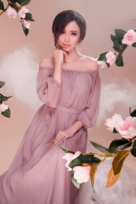 Hoa khôi Hải Yến đẹp ngọt ngào với tông màu tím tro - Hình 6