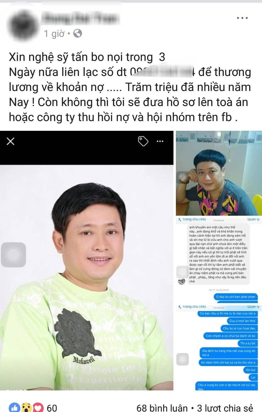 Nghệ sĩ Tấn Bo bị tố quỵt tiền, trốn nợ hàng trăm triệu - Hình 2