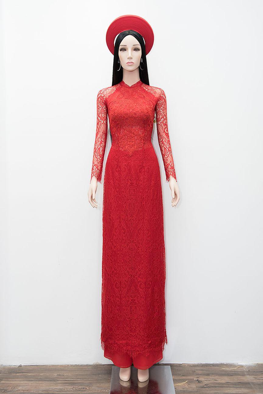 Hé lộ áo dài cưới đỏ rực Nhã Phương mặc trong lễ rước dâu sáng nay - Hình 1