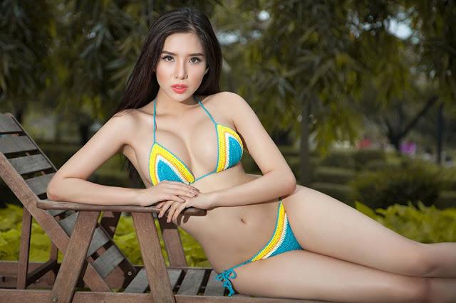 Bộ bikini gợi cảm, khoe thân hình nóng bỏng của Á hậu biển Khánh Phương - Hình 9