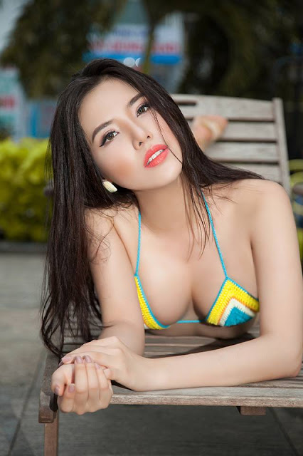 Bộ bikini gợi cảm, khoe thân hình nóng bỏng của Á hậu biển Khánh Phương - Hình 1