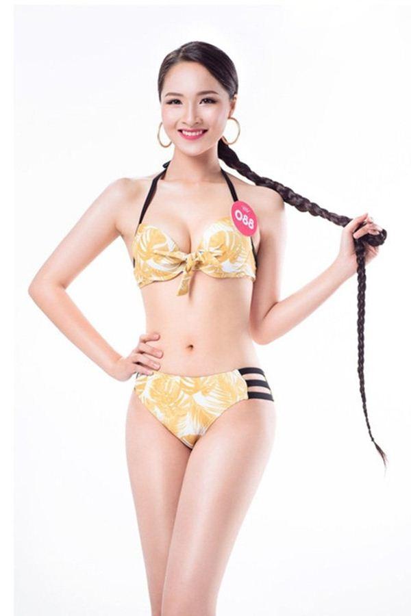 Vẻ thuần khiết của thí sinh Hoa hậu Việt Nam có mái tóc dài kỷ lục 1m4 - Hình 2