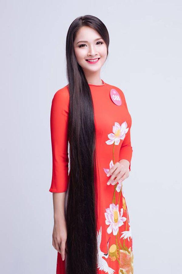 Vẻ thuần khiết của thí sinh Hoa hậu Việt Nam có mái tóc dài kỷ lục 1m4 - Hình 3
