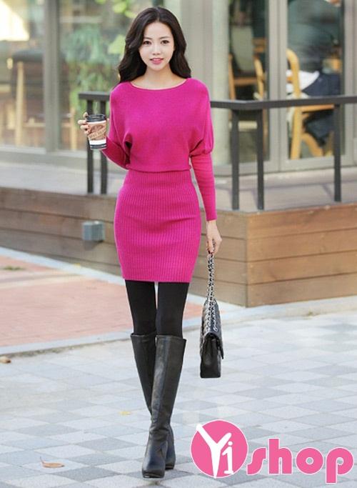 90 Váy ngắn đẹp hàn quốc mùa đông cho nàng nấm lùn xinh xắn quyến rũ - Hình 1
