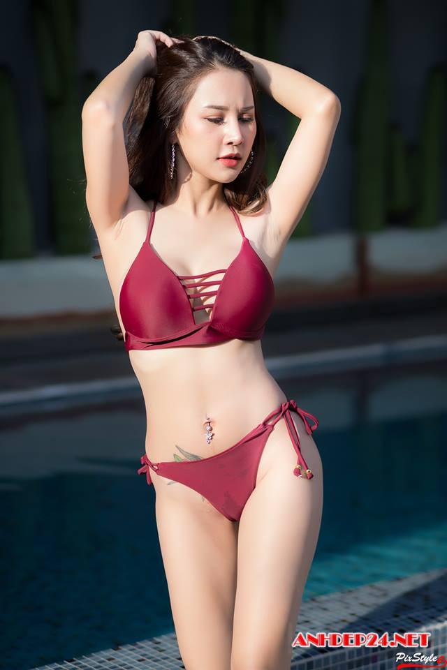 Mê mệt trước đường cong hoàn hảo của cô nàng hot girl Pimmy Natsasi khi mặc đồ tắm - Hình 4