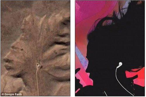 Google Maps phát hiện nhiều khuôn mặt khổng lồ giống hệt người thật - Hình 1