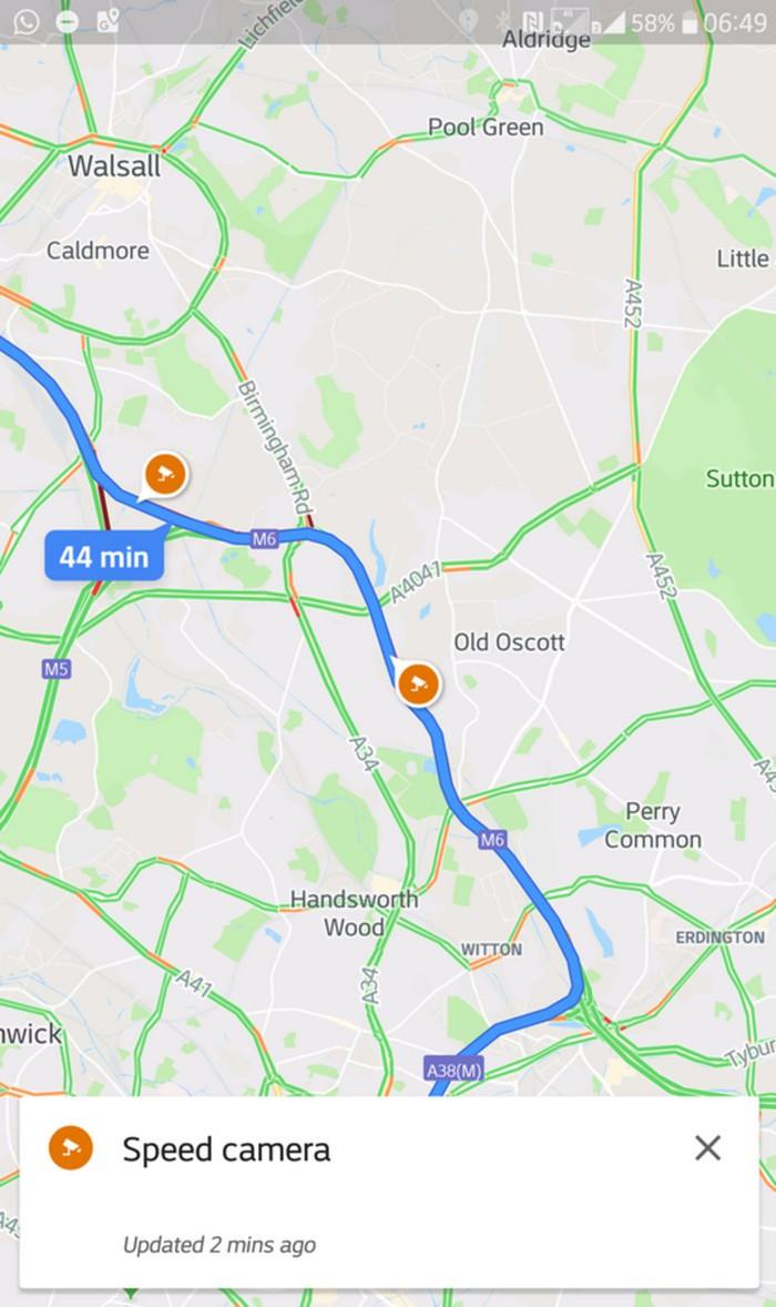 Google Maps thử nghiệm tính năng cảnh báo bẫy tốc độ khi lái xe - Hình 1