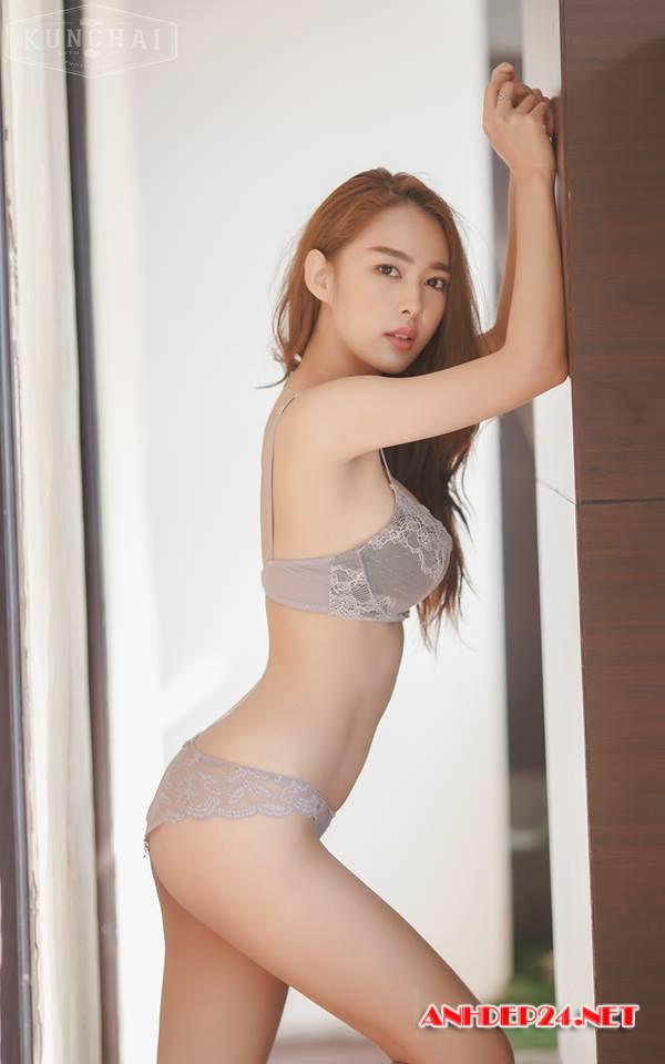 Vẻ đẹp mơn mởn của người mẫu bra Tharinton Donmuensri - Hình 4