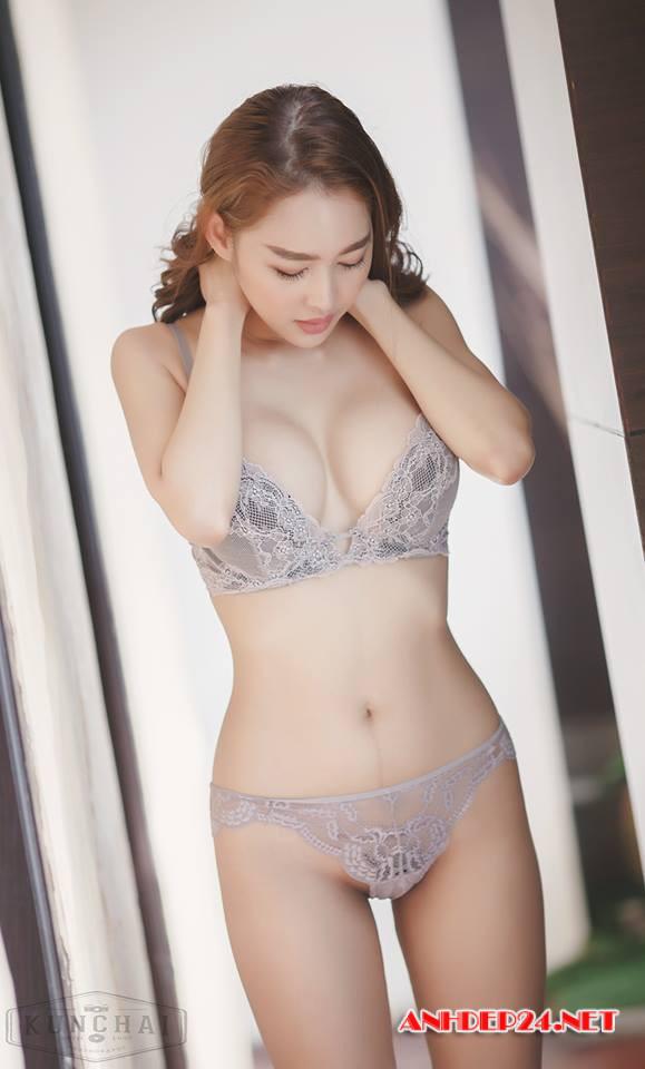 Vẻ đẹp mơn mởn của người mẫu bra Tharinton Donmuensri - Hình 6