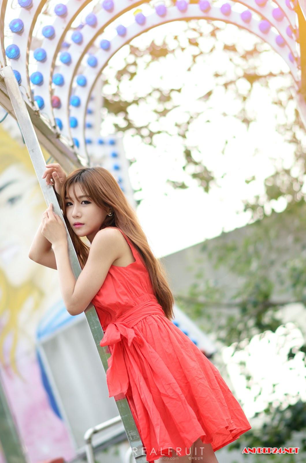 Chân dài Yoon Chae Won xinh đẹp quyến rũ hút mắt người nhìn - Hình 8