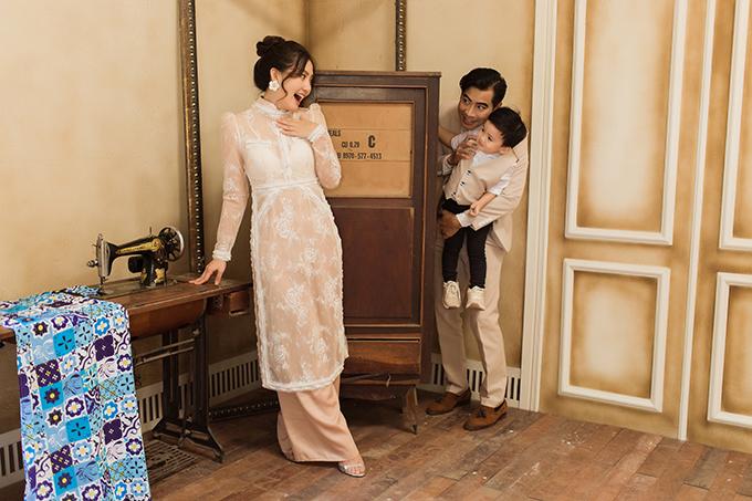 Gia đình Ngọc Lan - Thanh Bình chụp ảnh Tết - Hình 8