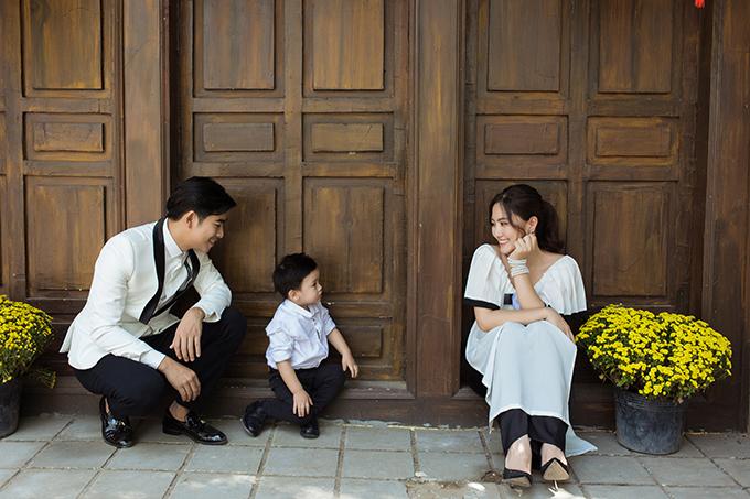 Gia đình Ngọc Lan - Thanh Bình chụp ảnh Tết - Hình 6