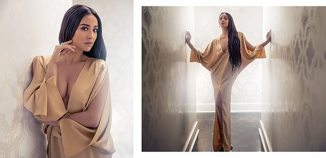 Người đẹp lai Shay Mitchell gợi cảm với đầm cắt xẻ sâu - Hình 11