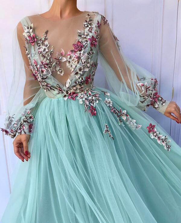 Váy cưới màu xanh ngọc cực đẹp cô dâu không thể rời mắt - Hình 19