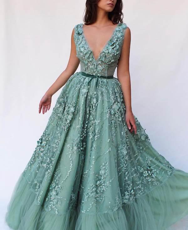 Váy cưới màu xanh ngọc cực đẹp cô dâu không thể rời mắt - Hình 15