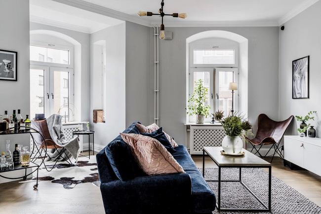 Căn hộ rộng 66m² sáng bừng nhờ cách trang trí nhà khéo léo cùng những gam màu cực sang chảnh - Hình 1