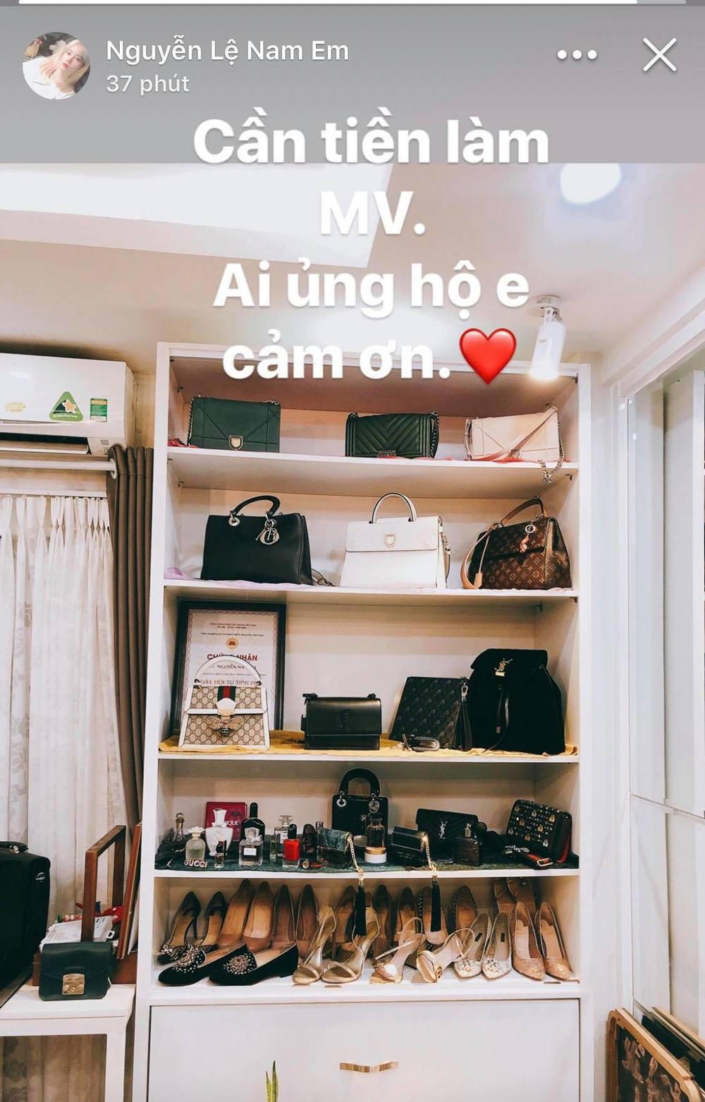 Nam Em có vẻ khó khănquá rồi: Rao bán cả kệ đồ hiệu toàn Chanel, Dior, Gucci... để có tiền làm MV - Hình 2