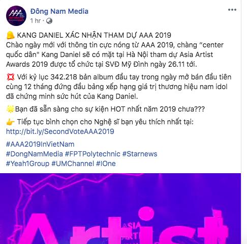 Zico đâu phải trùm cuối, nam idol đình đám vừa xác nhận dự AAA 2019 tại Việt Nam: Sắp đụng độ cả tình mới và cũ? - Hình 1