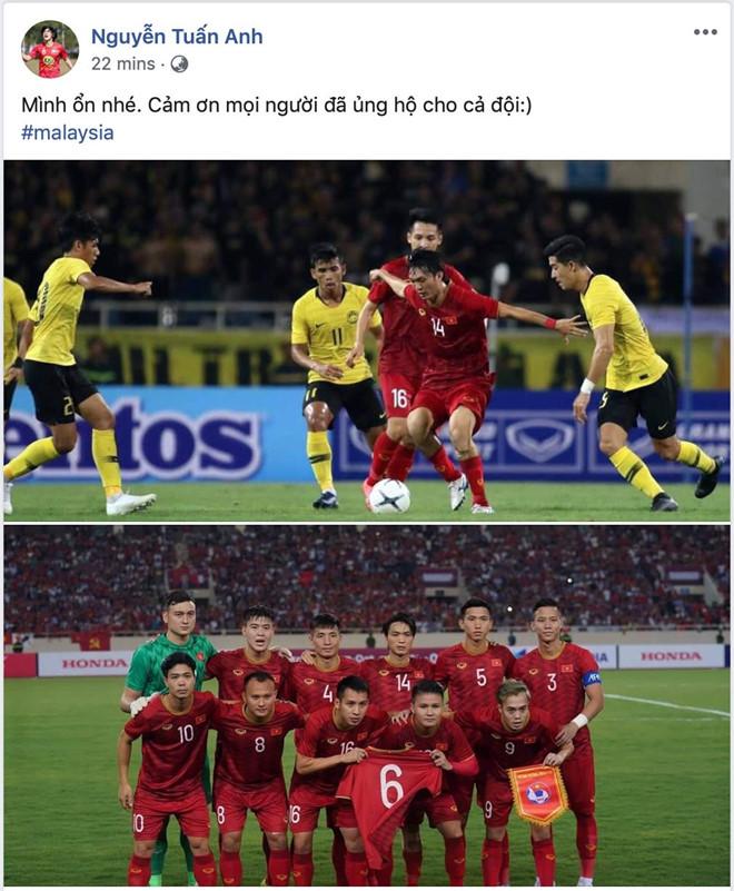 Tuấn Anh trấn an CĐV sau chấn thương đùi ở trận gặp Malaysia - Hình 1