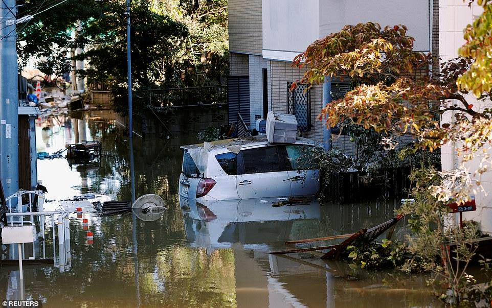 Nhật Bản tan hoang sau siêu bão Hagibis - Hình 2