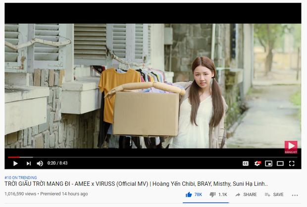 MV mới của AMEE tiến nhanh vào Top Trending: đúng là Jack, K-ICM và Quân A.P bị Top Trending YouTube thất sủng! - Hình 1
