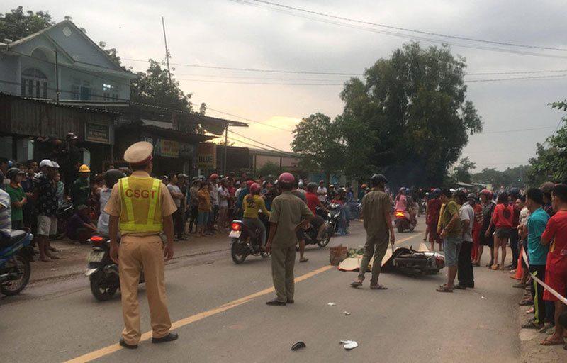 Tai nạn liên hoàn giữa 3 xe máy, 1 người tử vong, 2 bị thương nặng - Hình 1