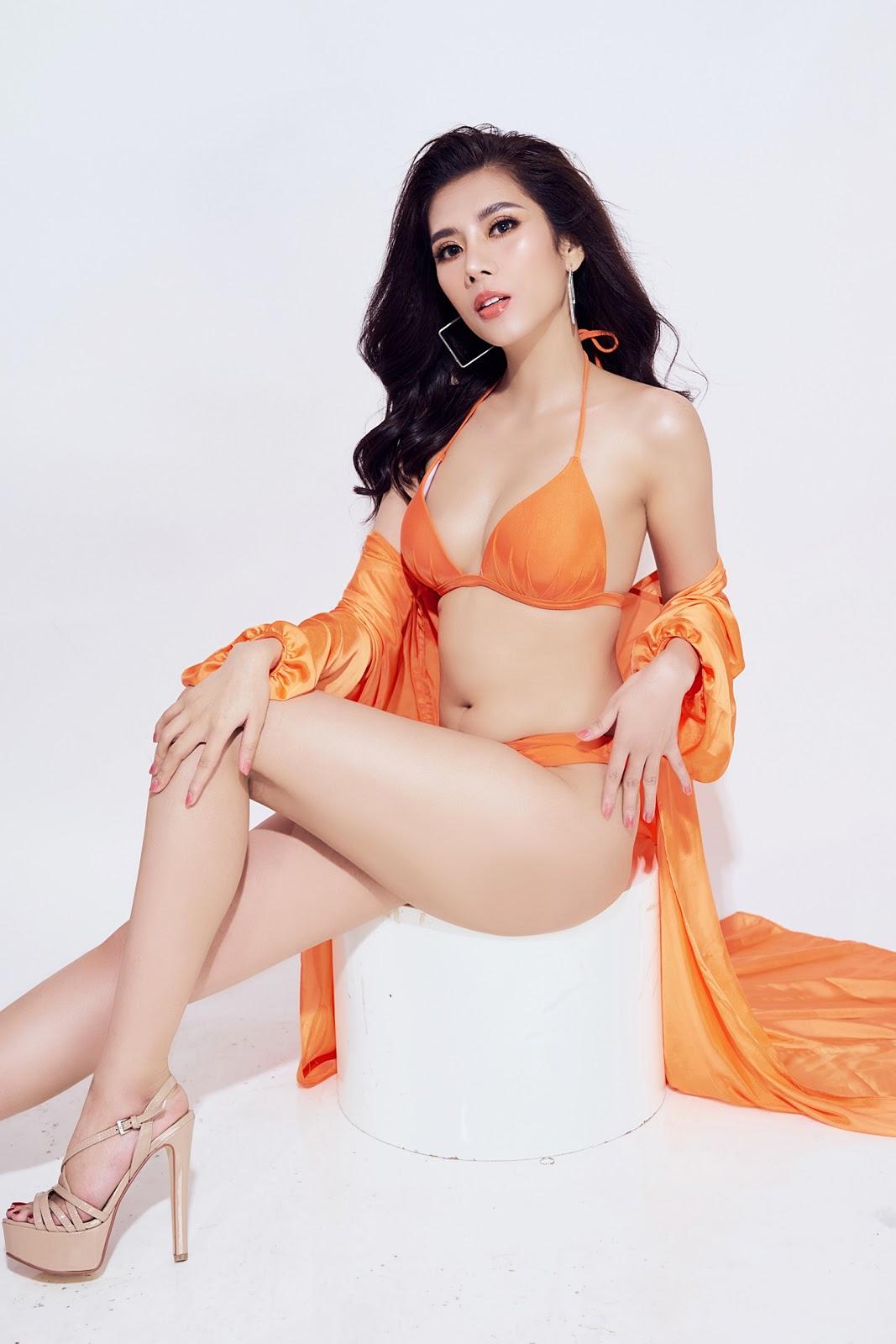 Dương Yến Nhung khoe trọn 3 vòng gợi cảm trong trang phục bikini - Hình 8