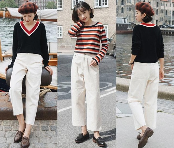 Áo denim jacket và quần culottes vẫn hot điên đảo, cứ mặc theo cách này là chị em đủ xinh đẹp suốt mùa thu - Hình 7