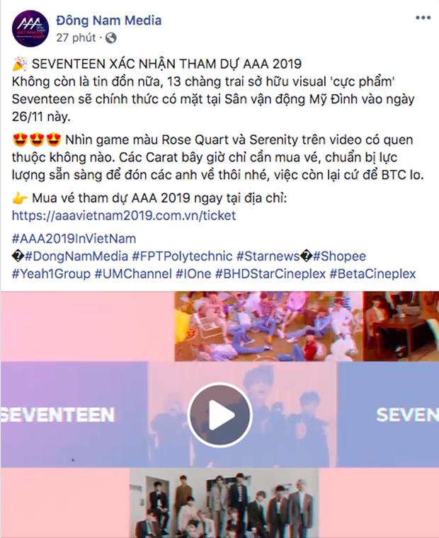 Trùm cuối AAA 2019 lộ diện: Nhá hàng thì tưởng BTS nhưng cái tên được gọi chính là SEVENTEEN! - Hình 1