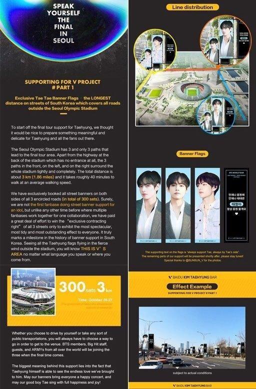 Fan chơi lớn làm hẳn banner dài kỷ lục 3000m dành tặng riêng V (BTS) - Hình 2