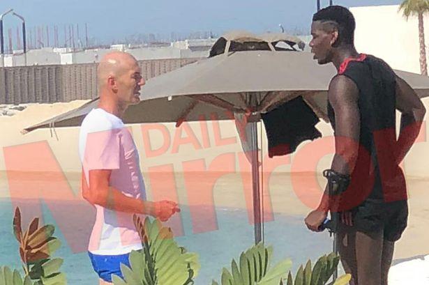 HLV Zidane gặp Pogba giữa tin đồn chuyển nhượng - Hình 1