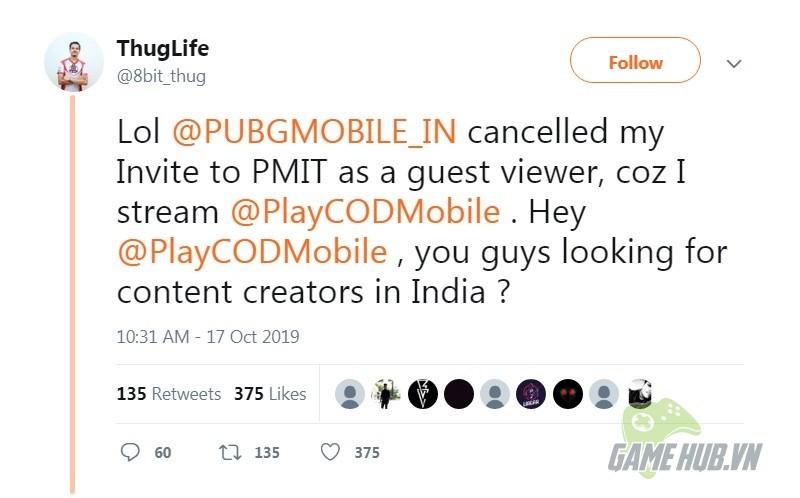Nam Streamer bị cấm cửa tại giải đấu PUBG Mobile chỉ vì livestream Call of Duty Mobile - Hình 2