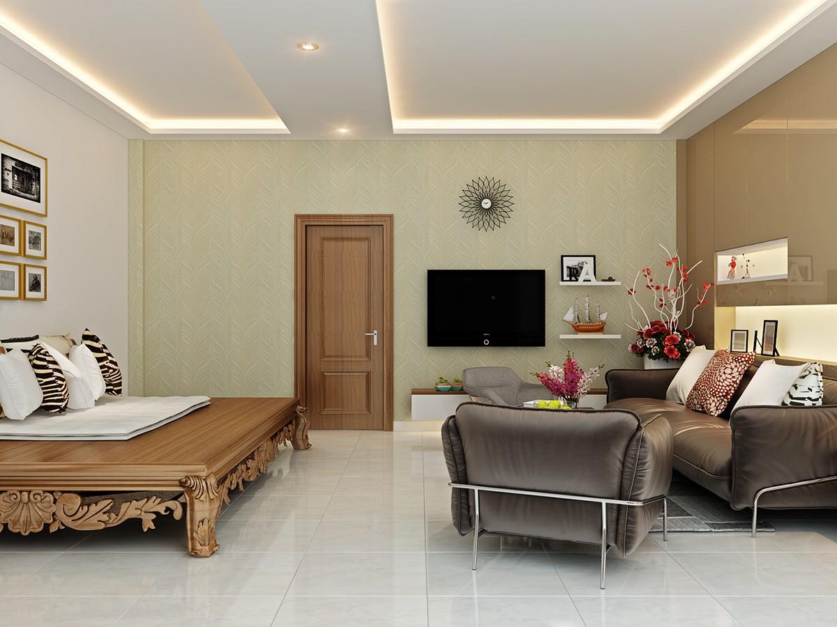 Mẫu phòng khách đẹp cho căn hộ chung cư - Hình 1