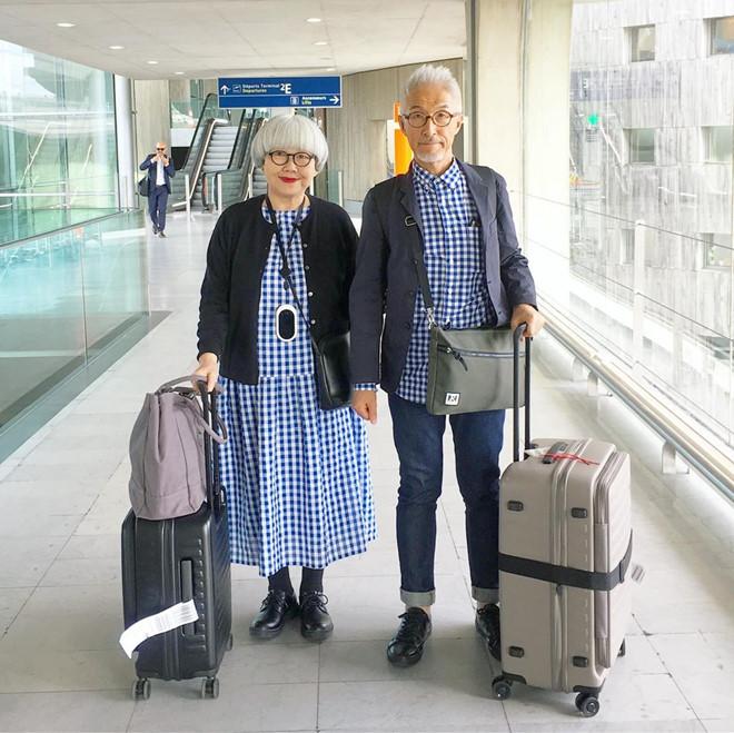 Cặp vợ chồng già Nhật Bản thành hiện tượng mạng vì luôn diện đồ đôi - Hình 6