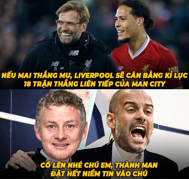 Ảnh chế: Fan có niềm tin MU sẽ đánh bại Liverpool - Hình 1