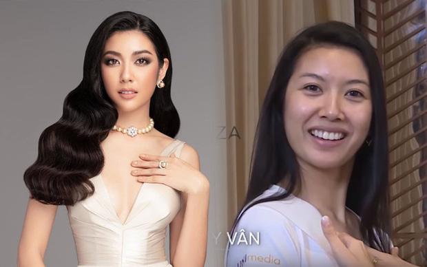 Giật mình với mặt mộc của Á hậu Thúy Vân và thí sinh Hoa hậu Hoàn vũ - Hình 1