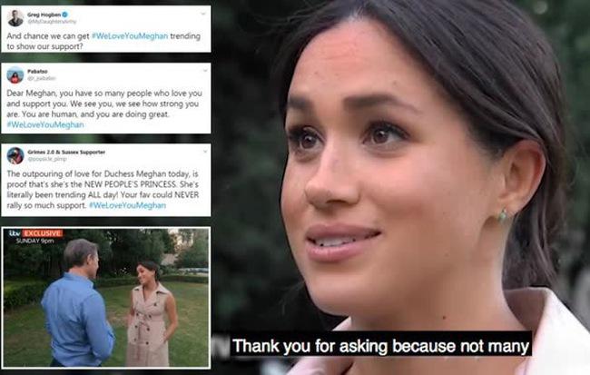 Meghan Markle bất ngờ được gần 100.000 người lên tiếng ủng hộ sau hình ảnh rơm rớm nước mắt trên truyền hình nhưng anti-fan cũng nhiều lên vô kể - Hình 1