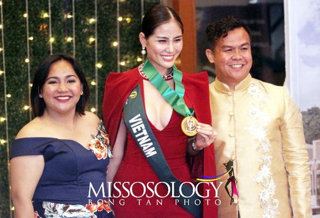 Hoàng Hạnh đạt giải vàng đầu tiên ở Hoa hậu Trái Đất - Hình 2