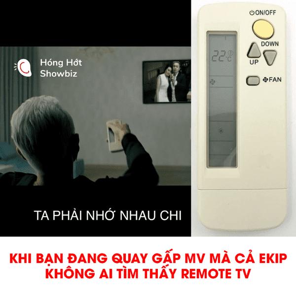 Nhà bao việc mà còn gấp quay MV, Binz mắc lỗi ngớ ngẩn - dùng remote điều khiển máy lạnh để... chỉnh kênh TV khiến CĐM cười không kịp thở - Hình 1
