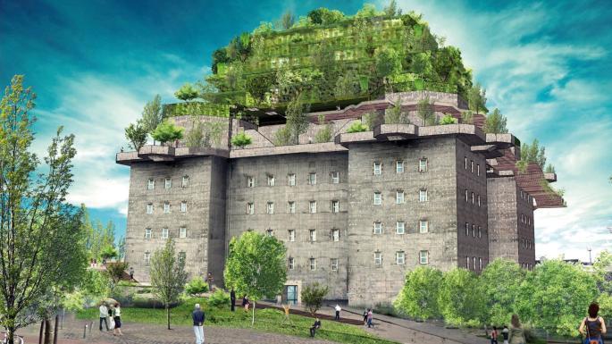 Pháo đài của Đức quốc xã sắp biến thành khách sạn xa xỉ với vườn treo 5 tầng - Hình 1