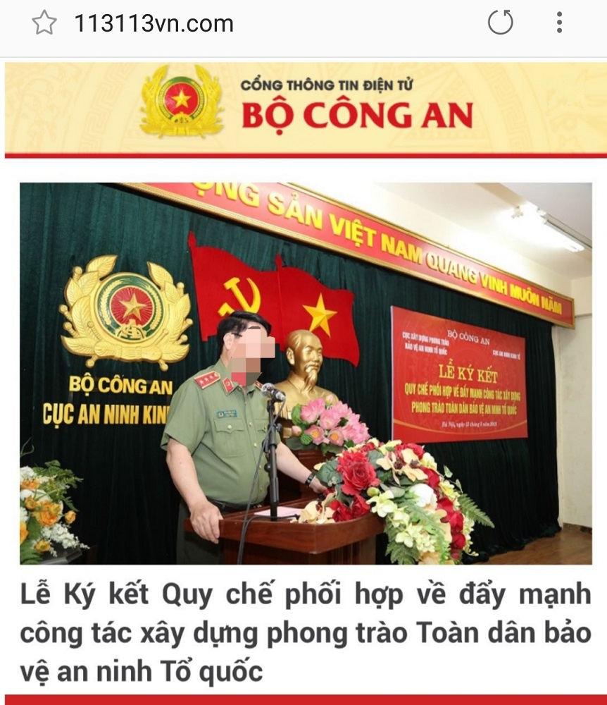 Giả trang web của Bộ Công an, Công an Đà Nẵng để đọc trộm tin nhắn - Hình 1