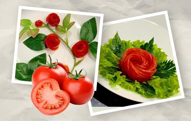 2 cách tạo hình hoa hồng từ cà chua dễ không tưởng giúp món ăn nâng tầm đẳng cấp - Hình 1