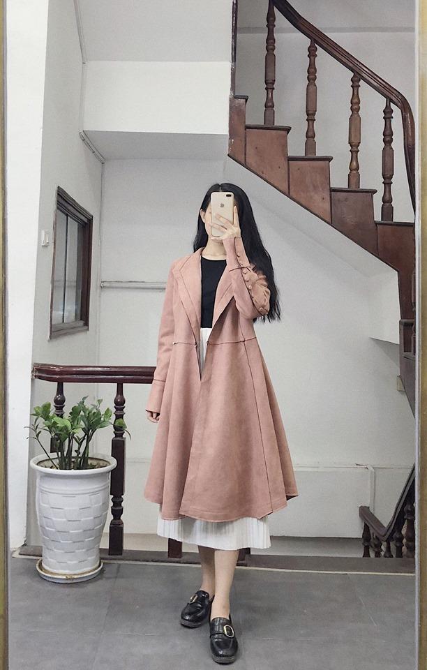 Áo khoác dạ dáng xoè cho nàng thêm nữ tính lại ấm áp - Hình 2